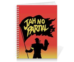 "Тетрадь на пружине ""Major Lazer Jan No Partial"" - музыка, арт, major lazer, jah no partial"