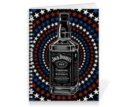 """Тетрадь на пружине """"Jack Daniels"""" - арт, стиль, дизайн, графика"""