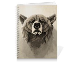 """Тетрадь на пружине """"Медведь"""" - арт, bear, grizzly, гриззли"""