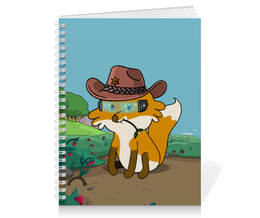 """Тетрадь на пружине """"Лисенок ковбой"""" - лиса, ковбой, шериф"""