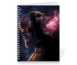 """Тетрадь на пружине """"Танос"""" - comics, комиксы, мстители, марвел, thanos"""