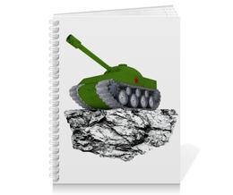 """Тетрадь на пружине """"С 23 февраля!"""" - 23 февраля, день защитника отечества, танк, февраль, прадник"""