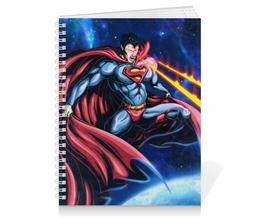 "Тетрадь на пружине ""Супермен (Superman)"" - комиксы, superman, супермэн, dc comics, супс"