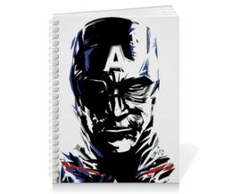 "Тетрадь на пружине ""Капитан Америка"" - комиксы, кэп, марвел, капитан америка, captain america"