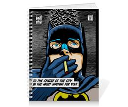 "Тетрадь на пружине ""Иэн Кертис"" - rock, batman, joy division, бэтмен, ian curtis"