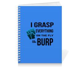 """Тетрадь на пружине """"Burp Suite"""" - безопасность, инфобез, burp, burp suite, схватывать на лету"""