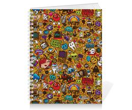"""Тетрадь на пружине """"Stickers"""" - арт, стиль, рисунок, дизайн, графика"""