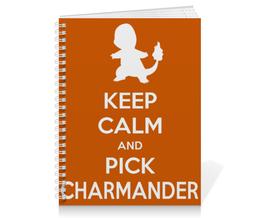 "Тетрадь на пружине ""Чармандер"" - нинтендо, nintendo, charmander, pokemon go, покемон го"