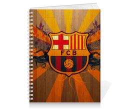 "Тетрадь на пружине ""Барселона"" - футбол, барселона, fcb, барса"