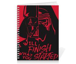 """Тетрадь на пружине """"Darth Vader & Kylo Ren"""" - star wars, звездные войны, дарт вейдер, кайло рен, бен соло"""