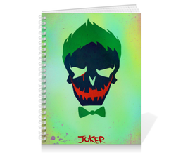 "Тетрадь на пружине ""Джокер"" - jared leto, joker, комиксы, отряд самоубийц, suicide squad"