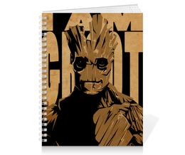 "Тетрадь на пружине ""Грут (Groot)"" - комиксы, марвел, стражи галактики, groot, guardians of the galaxy"
