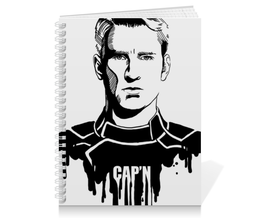 "Тетрадь на пружине ""Капитан Америка"" - комиксы, кэп, мстители, марвел, captain america"
