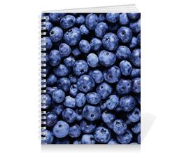 """Тетрадь на пружине """"Черника"""" - ягоды, черника, blueberry"""