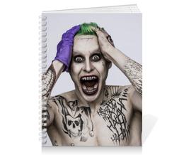 """Тетрадь на пружине """"Джокер"""" - joker, джаред лето, злодей, отряд самоубийц, suicide squad"""