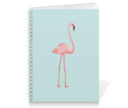 """Тетрадь на пружине """"Розовый полет"""" - голубой, розовый, фламинго"""