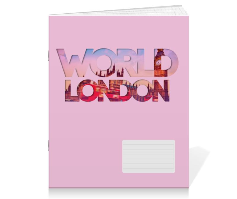 Тетрадь на скрепке Printio different world: london