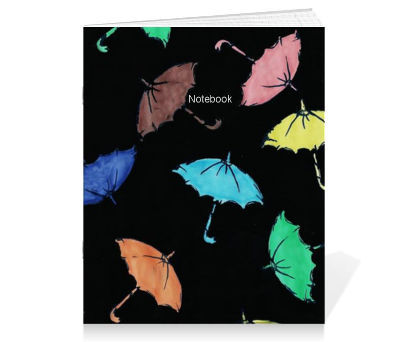 Тетрадь на скрепке Printio Зонтики тетрадь на скрепке printio colorful