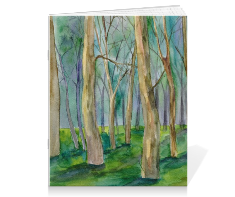 Тетрадь на скрепке Printio Тетрадь деревья. серия акварель 2015 тетрадь на скрепке printio медведь