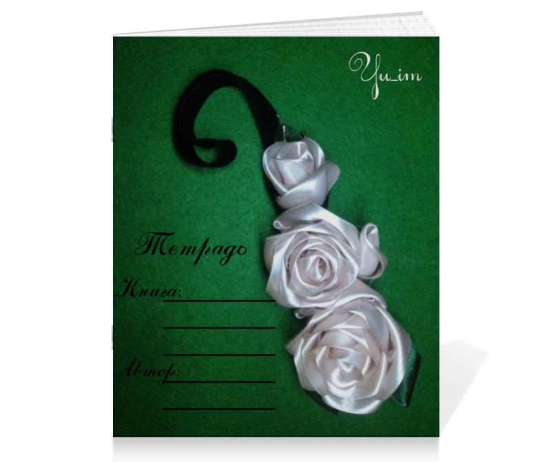 Тетрадь на скрепке Printio Любимые розы