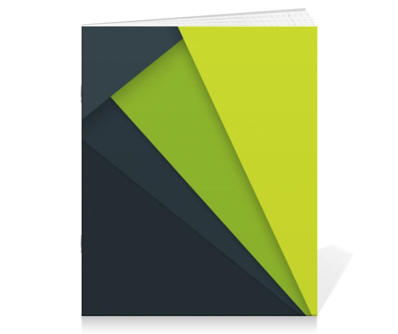 Тетрадь на скрепке Printio Тетрадь с зелёной текстурой тетрадь на скрепке printio якорь и пионы