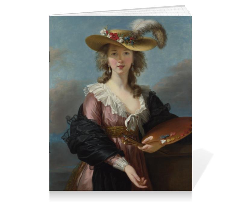 Тетрадь на скрепке Printio Автопортрет в соломенной шляпке чехол для iphone 4 глянцевый с полной запечаткой printio автопортрет в соломенной шляпке виже лебрён