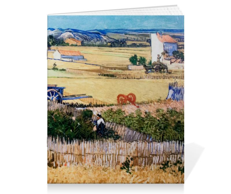 Тетрадь на скрепке Printio Урожай (картина ван гога)