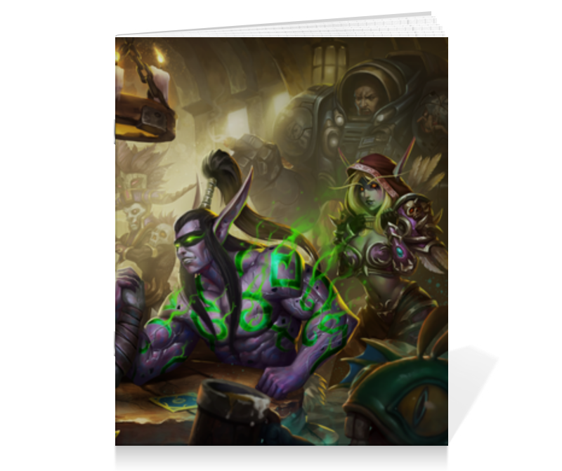 Тетрадь на скрепке Printio Heroes of the storm майка print bar heroes of the storm nova