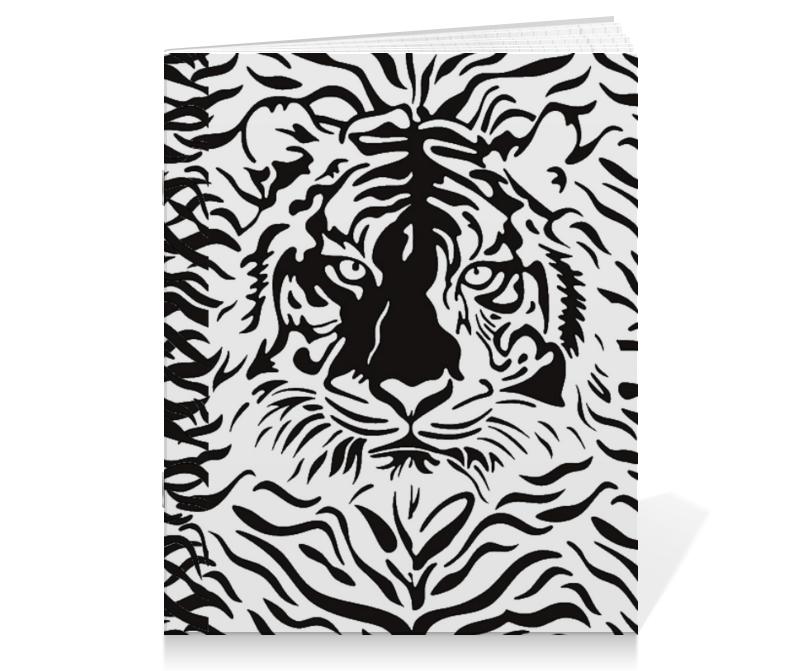 Тетрадь на скрепке Printio Взгляд тигра тетрадь на скрепке printio медведь