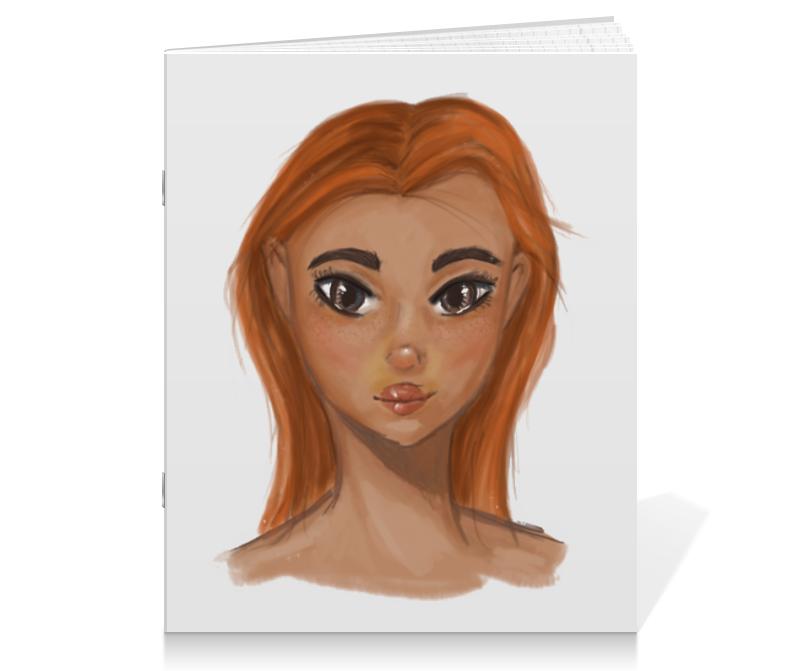 Тетрадь на скрепке Printio Рыжая девушка тетрадь на скрепке printio девушка с жемчужной серёжкой ян вермеер