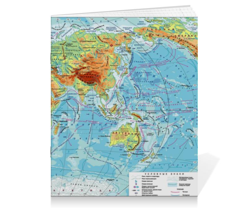 Тетрадь на скрепке Printio Карта мира goldfish карта goldfish съемная бумага для кухни насосной полотенца пакет 75 насосных 3