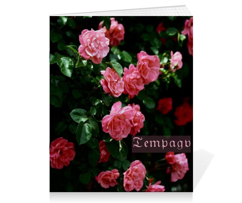 Тетрадь на скрепке Printio Розы готика