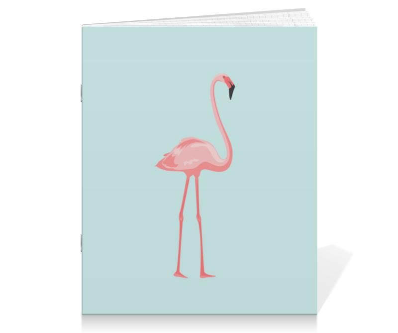 Тетрадь на скрепке Printio Розовый полет полет на аэрошюте