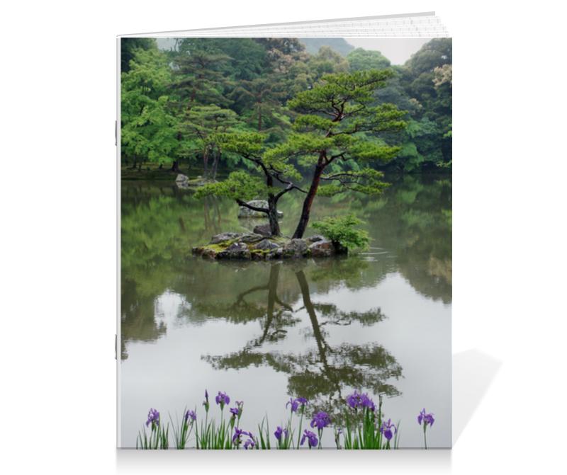 Тетрадь на скрепке Printio Японский сад купить японский майонез кюпи в ростове