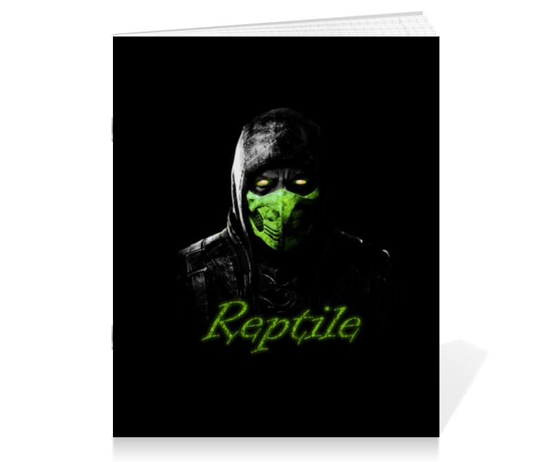 Тетрадь на скрепке Printio Reptile тетрадь на скрепке printio тетрадь по экономике