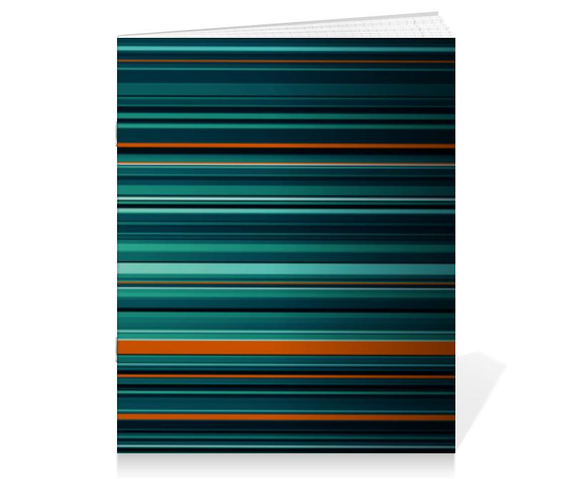 Фото - Тетрадь на скрепке Printio Полосатая абстракция тетрадь на скрепке printio цветная абстракция
