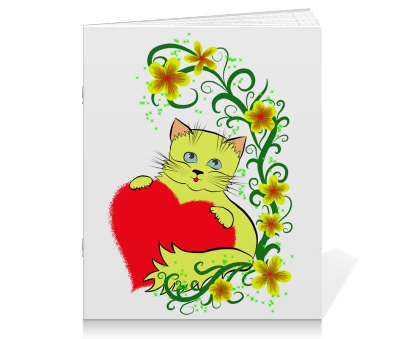 Тетрадь на скрепке Printio Котёнок тетрадь на скрепке printio медведь