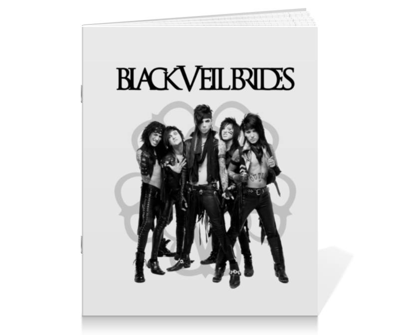 Тетрадь на скрепке Printio Black veil brides newsboy hat with veil