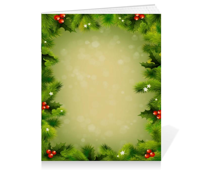 Тетрадь на скрепке Printio Для новогодних подарков коробка для чехлов printio для новогодних подарков