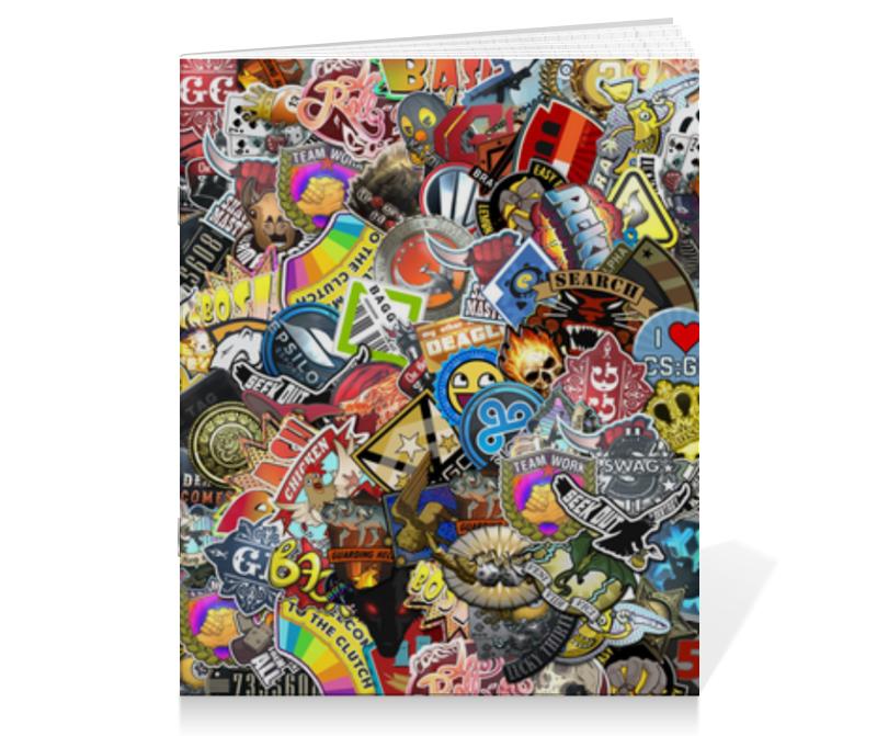 Тетрадь на скрепке Printio Стикеры kecompany стикеры на подушечках мир растений kco 30 614550