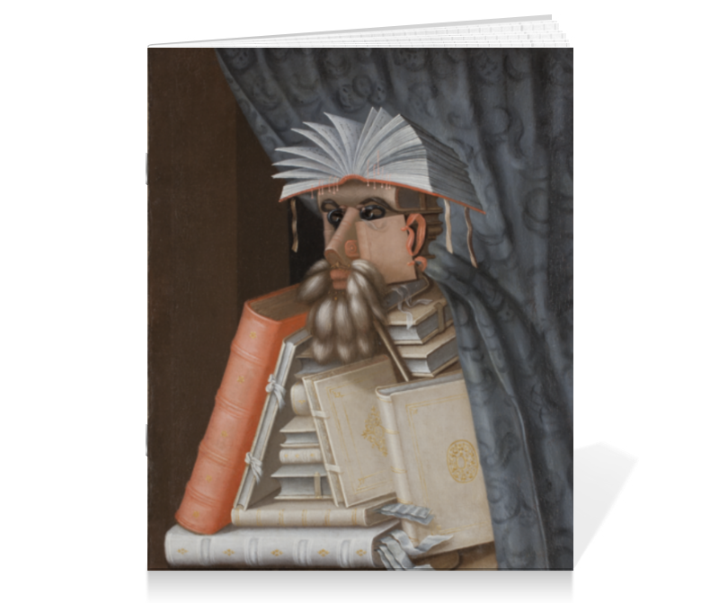 Тетрадь на скрепке Printio Библиотекарь (джузеппе арчимбольдо) тетрадь на скрепке printio княжна тараканова картина флавицкого