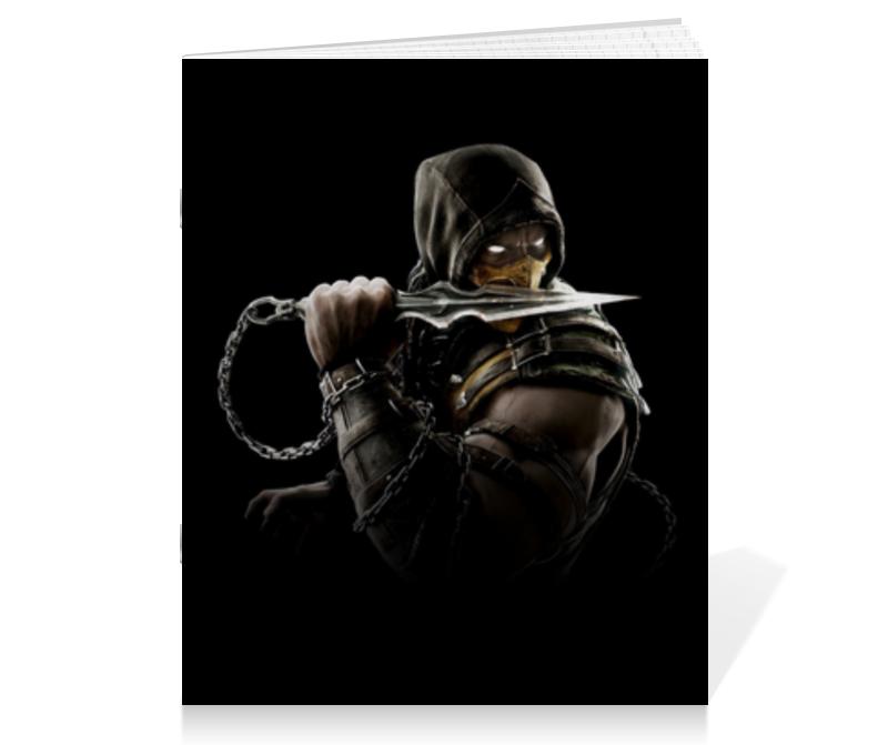 Тетрадь на скрепке Printio Mortal kombat (scorpion) тетрадь на скрепке printio конструктор лего