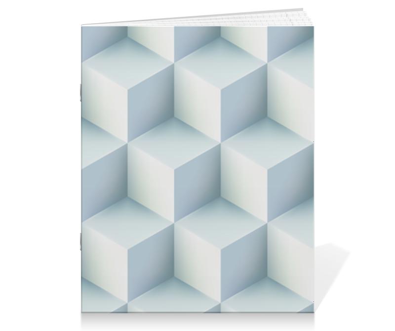 Тетрадь на скрепке Printio Кубическая иллюзия опасная иллюзия