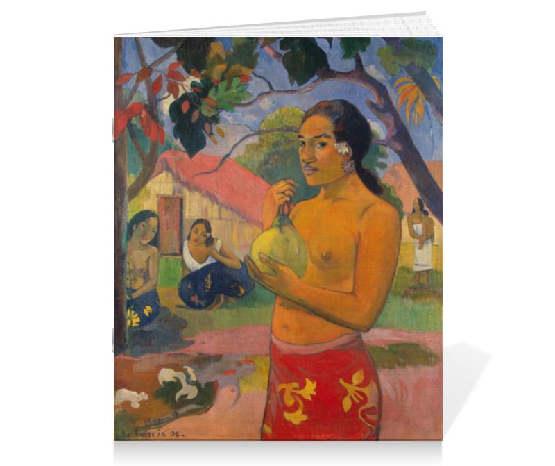 Тетрадь на скрепке Printio Женщина, держащая плод (поль гоген)