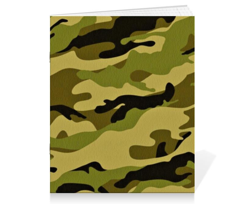 Тетрадь на скрепке Printio Военный-камуфляж