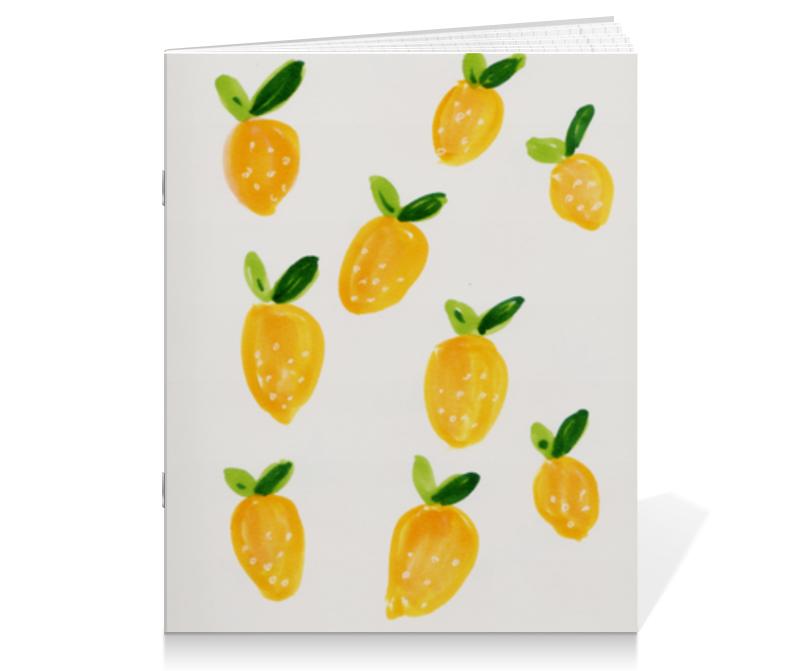 Тетрадь на скрепке Printio Лимонная тетрадь printio тетрадь на скрепке