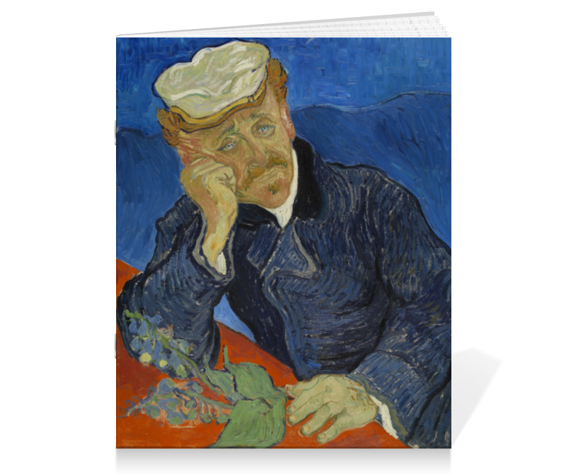Тетрадь на скрепке Printio Портрет доктора гаше (винсент ван гог) тетрадь на скрепке printio ирисы винсент ван гог