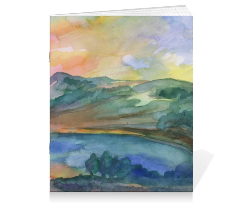 Тетрадь на скрепке Printio Горное озеро тетрадь на скрепке printio озеро сергей виноградов