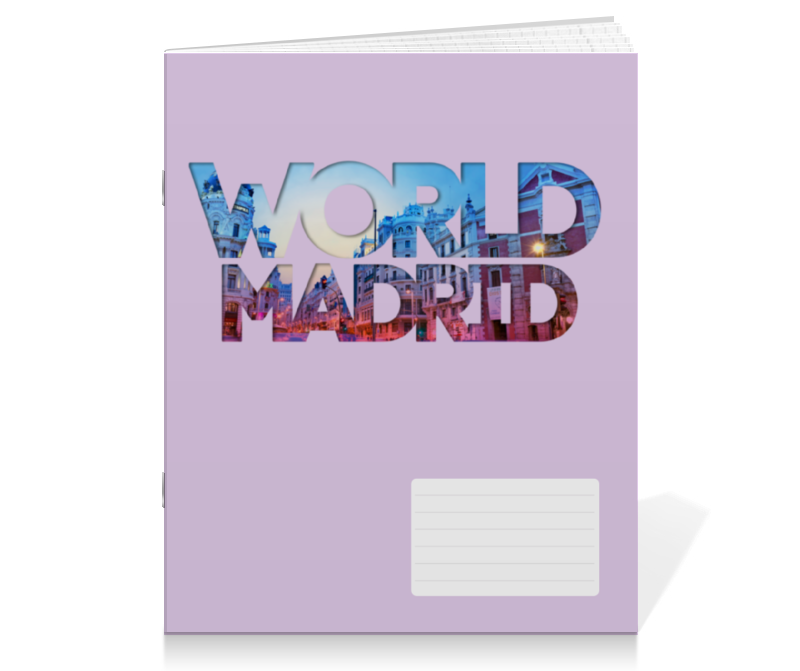 Тетрадь на скрепке Printio different world: madrid girona fc rayo vallecano de madrid
