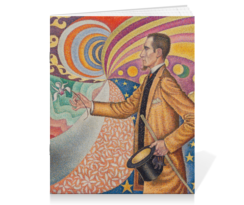 Тетрадь на скрепке Printio Портрет феликса фенеона (поль синьяк)